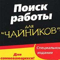 Книга: Поиск работы для чайников